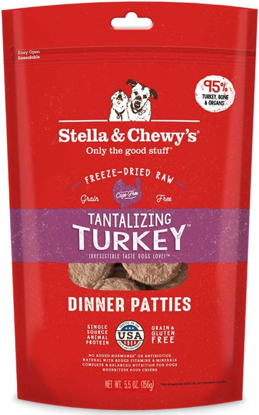 Stella & Chewy's Tantalizing Turkey Dinner Patties Freeze-Dried Raw Dog Food