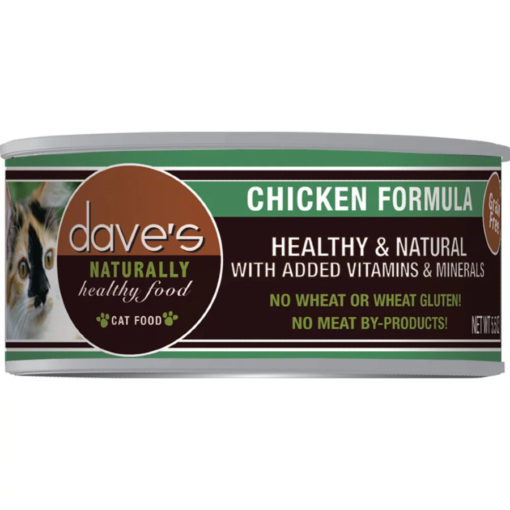 Dave's Naturally Healthy Grain Free Canned Cat Food Chicken Formula