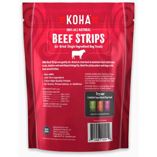 Koha Beef Strips All Natural Treats