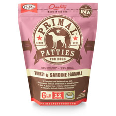 Primal Dog Turkey and Sardine Formula