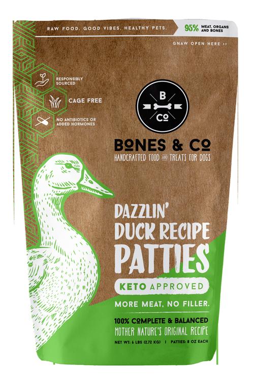 Bones & Co Dazzlin' Duck Recipe Patties, 6 lb