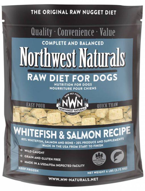 Northwest Naturals Whitefish & Salmon Frozen Dog Food
