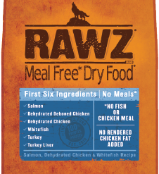 RAWZ Salmon, Chicken & Whitefish Recipe Dry Dog Food