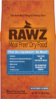 RAWZ Salmon, Chicken & Whitefish Recipe Dry Dog Food