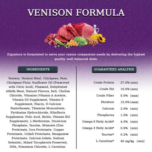Zignature Venison Limited Ingredient Grain Free Dry Dog Food