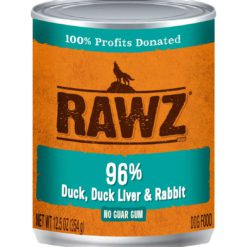 Rawz Duck Duck Liver & Rabbit Wet Dog Food