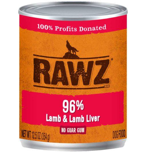 Rawz Lamb & Lamb Liver Wet Dog Food