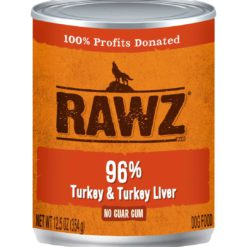 Rawz Turkey & Turkey Liver Wet Dog Food