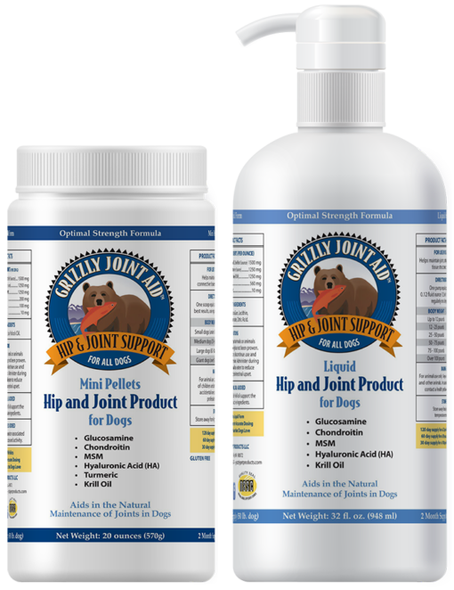 Grizzly: Hip and Joint Aid Mini Pellets