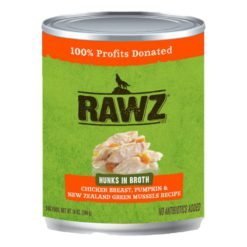 Rawz Hunk Can: Chicken Breast, Pumpkin, and New Zealand Green Mussels