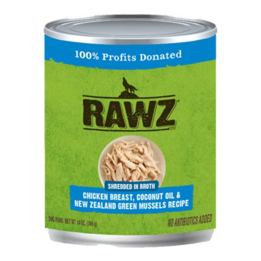 Rawz Shredded Can: Chicken Breast, Coconut oil, and New Zealand Green Mussels Recipe
