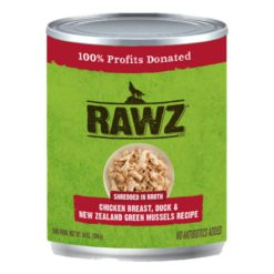 Rawz Shredded Can: Chicken Breast, Duck, and New Zealand Mussels